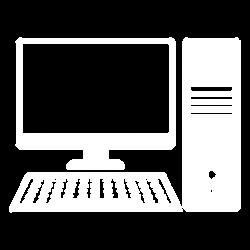 Computer icon white